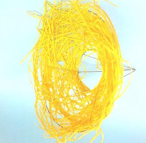 Каркас из ротанга (диаметр: 30 см) Цвет:желтый