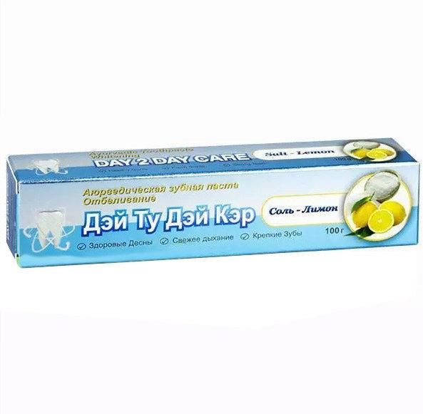 Аюрведический Зубная Паста (Дэй Ту Дэй Кэр) отбеливание соль-лимон 100 гр