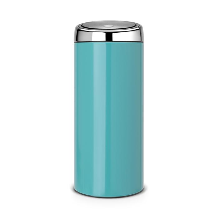 Мусорный бак Brabantia Touch Bin (30л), Лазурно–синий, арт. 481925 - фото 1