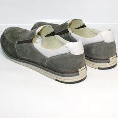 Серые мужские туфли лоферы IKOC 3394-3 Gray.
