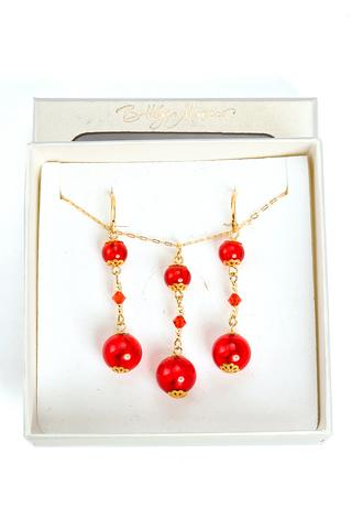 Комплект Primavera Orange (серьги, подвеска)