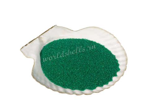 Цветной песок зеленый для рисования