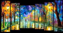 """Модульная картина """"Одинокая прогулка в парке"""""""