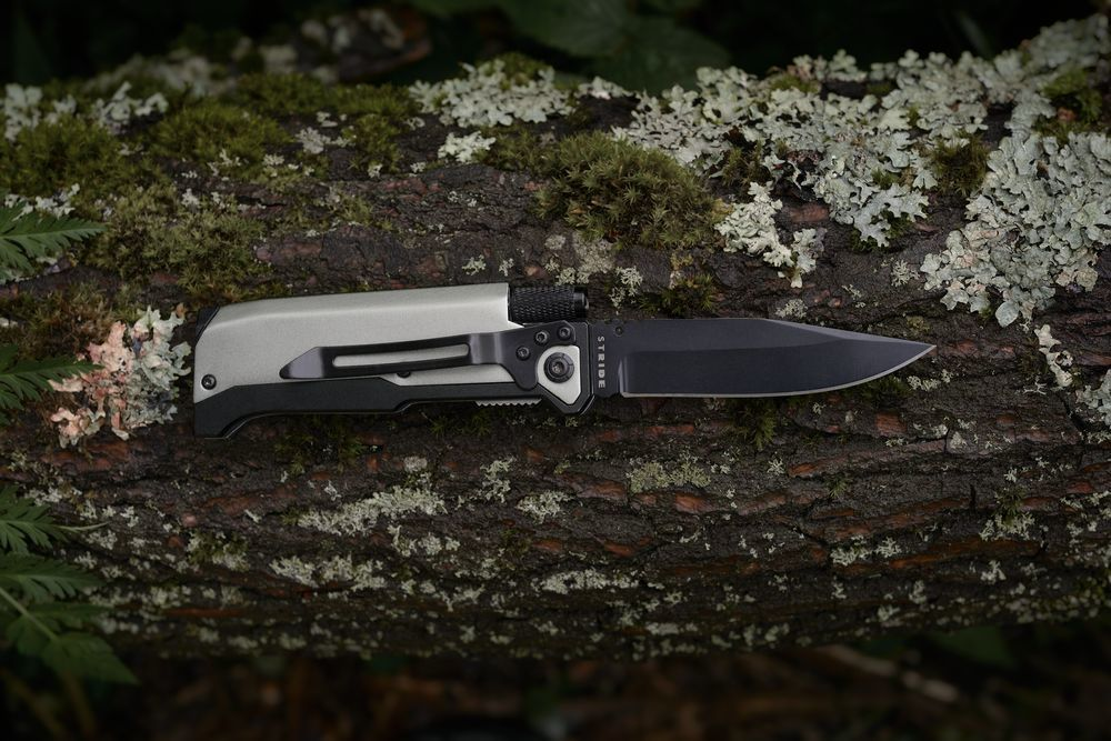 Ster Foldable Knife and Torch, grey