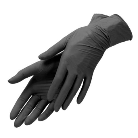 Перчатки нитриловые (черные, M,100 шт./упк.).