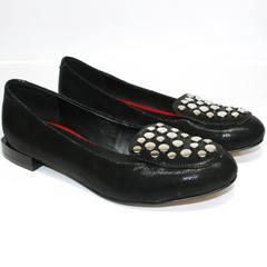 Черные кожаные балетки Kluchini 5212 k 364 Black.