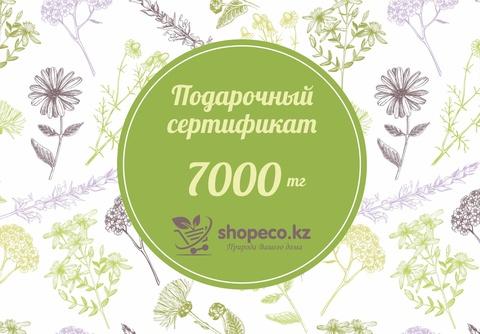 Подарочный сертификат интернет-магазина shopeco.kz на 7000 тенге