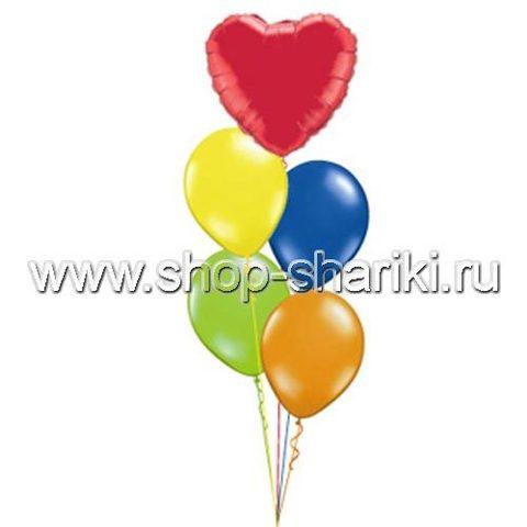 shop-shariki.ru фонтан из гелиевых шаров с сердцем