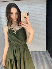 темно-зеленый сарафан купить
