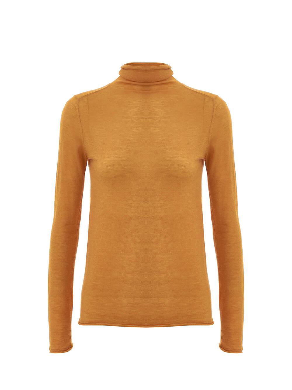 Женский свитер песочного цвета из 100% шерсти - фото 1