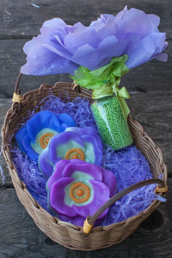 Мыло Цветок мака. Пластиковая форма
