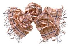 Женский хлопковый розовый палантин в клетку (0560 PAL 2)