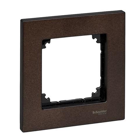 Рамка на 1 пост. Цвет Венге. Merten. M-Elegance System M. MTN4051-3471