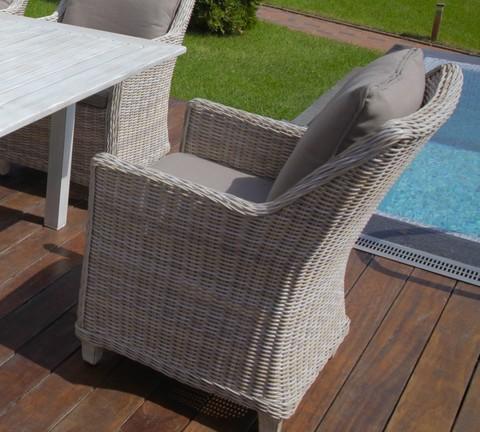 Кресло «Тоскана» из искусственного ротанга, цвет светло-серый