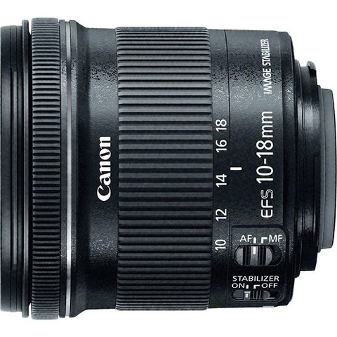 Объектив Canon EF-S 10-18mm f/4.5-5.6 IS STM Black для Canon