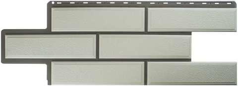 Фасадная панель Альта Профиль Камень венецианский Белый 1250х450 мм