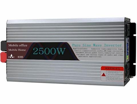 Инвертор 12-220V 2500W YURNIX Юрникс чистый синус 12 вольт на 220вольт 2500 Ват преобразователь напряжения