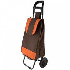 Тележка багажная ручная 25 кг (сумка), 50 кг (каркас) DT-20 коричневая с оранжевым
