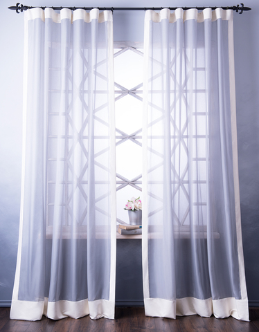Готовая штора Элио серый