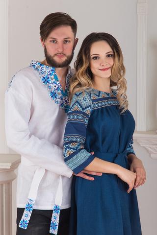 платье Каспийское и рубаха Северная в русском стиле