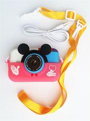 детский цифровой фотоаппарат микки маус розовый