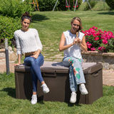 Пластиковый сундук Toomax Santorini с подушкой
