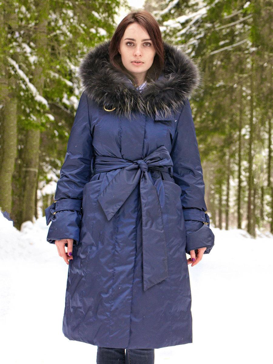 Joutsen пуховик Celine темно-синий - Фото 1