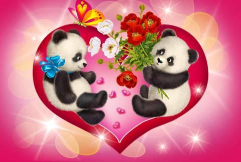 Печать на вафельной бумаге, День Влюбленных 16