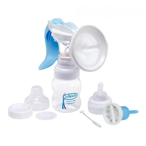 Dr Brown's Молокоотсос ручной + Бутылочка для кормления 120 мл. с широким горлышком (стандарт)