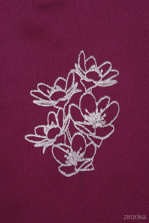 Комплект (юбка, блузка) бордовый для девочки 64-9007-3