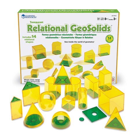 LER0918 Набор объемных геометрических фигур Взаимосвязи 14шт. Learning Resources