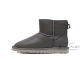 UGG CLASSIC MINI METALLIC GREY