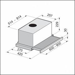 Вытяжка Korting KHP 6772 GN схема