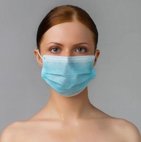Треслойные одноразовые медицинские маски - 50 шт.