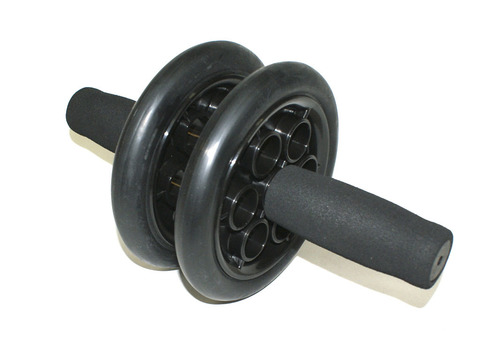 Ролик гимнастичкский SM-342 INDIGO черный с неопреновыми ручками