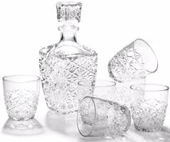 Набор  для водки «Dedalo», декантер 780 мл, 6 стаканов 85 мл, фото 2