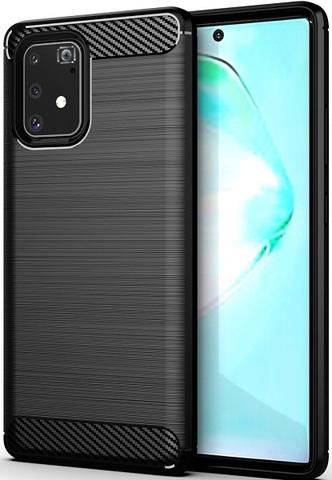 Чехол Samsung Galaxy A91 (M80S) цвет Black (черный), серия Carbon, Caseport