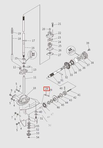 Крышка входа воды для лодочного мотора T9.8 Sea-PRO (13-28)