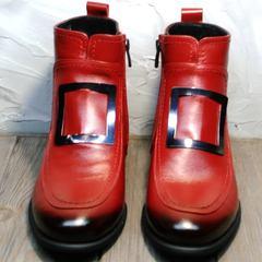 Красные ботильоны женские весна осень Evromoda 1481547 S.A.-Red
