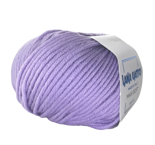 Пряжа Lana Gatto Maxi Soft 10180 сирень