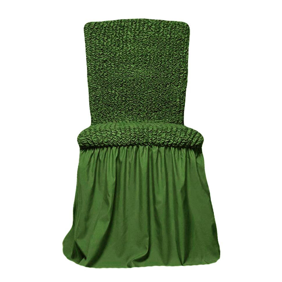 Чехлы на стулья универсальные, комплект из 6 штук, изумруд