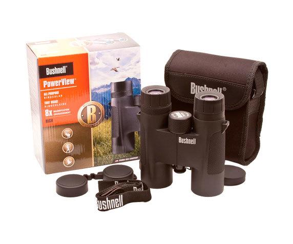 Комплект поставки: бинокль PowerView 8x32, футляр, защитные крышки, ремень.