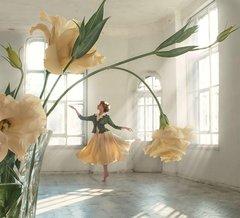 Картина раскраска по номерам 40x50 Девушка-цветок