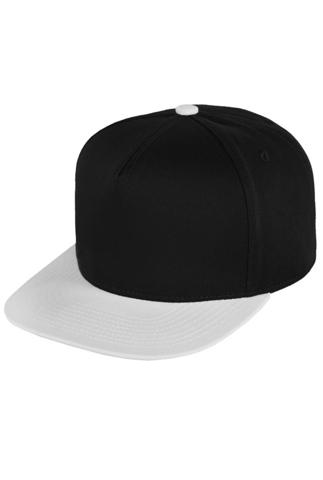 Бейсболка черная с белым фото 1