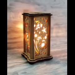 Солевая лампа с узором Рыбка 0,6-1 кг