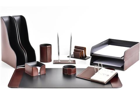 Подарочный Premium набор 11 предметов из кожи Full Grain Bologna Brown/Cuoietto