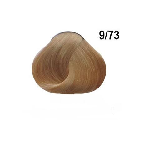 Перманентная крем краска для волос Ollin 9/73 коричнево-золотистый блондин