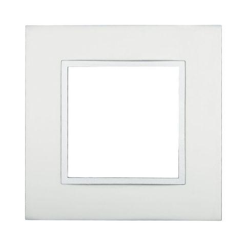 Рамка на 1 пост из натурального анодированного алюминия. Цвет Алюминий. LK Studio LK45 (ЛК Студио ЛК45). 854123