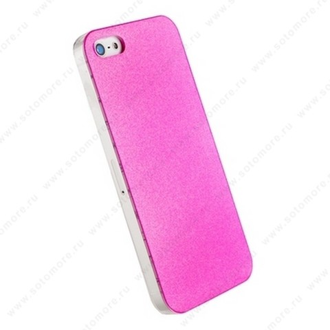 Накладка POMOSER для iPhone SE/ 5s/ 5C/ 5 ярко-розовая