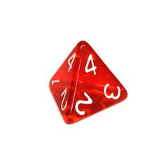 Куб D4 прозрачный: Красный